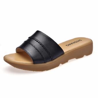 Women Slippers Slip on Ladies Flat Slides Summer Sandals Shoes - intl