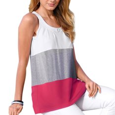 Women Summer Sleeveless Casual Tank Tops(Gray)