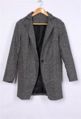 Women Warm Wool Cashmere Long Winter Parka Coat Trench Overcoat (Intl)