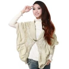 Women's Batwing Sleeve Loose Cloak Cape Sweater Long Cardigan