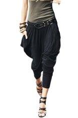 Women's Casual Hip Hop Harem Pants Trousers (Black) - Intl