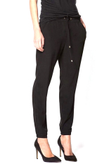 Women's Elastic Waist Casual Jogger Harem Pants Trousers Black S (Intl)