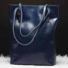 Women's Handbag Genuine Soft Leather Large Tote Shoulder Bag Hot Blue