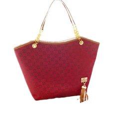 Womens Ladies Designer Leather Tote Bags Shoulder Handbag Shopper Satchel Red (Intl)
