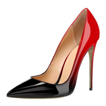 Women's Shoes Sexy Gradient Color Nightclub Pumps Stiletto Thin Pointed Toe High-heeled Shoes?red? - intl
