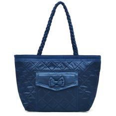 Women's Winter Handbag Tassel Shoulder Bag Casual Handbag Large Capacity Shopping Bag Big Bags (Dark Blue)