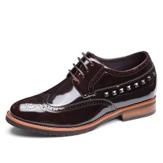 X819.2.75 Inches Taller Height Increase Elevator Oxford Shoes - Patent Leather Lace-up Ͼ