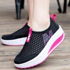 Xin Bo Women Fashion Wedge Sneakers Sport Shoes Black - intl
