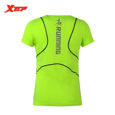 XTEP Brand Fashion Cotton Short Sport Running T-shirts Womens O-Neck Sporting T-shirts Tops Tee High Quality Athletic Tennis Gym Tennis Shirt For Women(Green) - intl