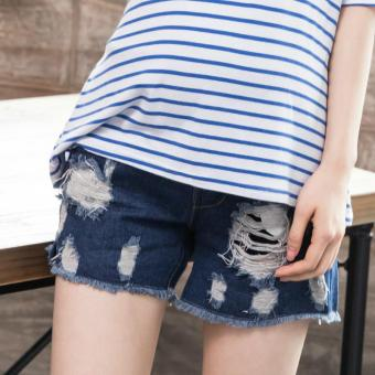 a4198b6e6be Y618  Ripped Hole Fringed Denim Maternity Belly Shorts Summer Fashion Style  Clothes for Pregnant Women
