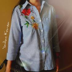 Yadas Korea Desya Kemeja Wanita Lengan Panjang Bordir - 0012 Red