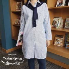 Yadas Korea Makeda Kemeja Tunik dengan syal - 0013 Black