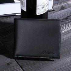 YATEER Brand Mens Wallets Pu Leather Wallets Short Foldable Mens Wallets With Card Holder Black - Intl
