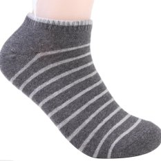 Yazilid Men's Sport Socks Crew Ankle Low Cut Casual Cotton Socks New Fashion 3 Styles 1 Pair Dark Gray White