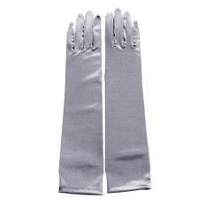 YBC Lady Long Party Bridal Dance Gloves Wedding Gloves Silver - Intl