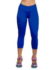 Yidabo Women Tights Capri Running Pants High Waist Fitness Cropped Leggings (Dark Blue) - Intl