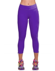 Yidabo Women Tights Capri Running Pants High Waist Fitness Cropped Leggings (Purple) - Intl
