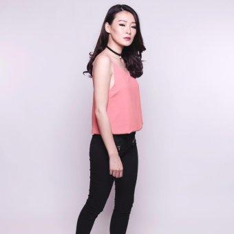 Yoorafashion Atasan Wanita - Icona Camisole Tanktop - Pink