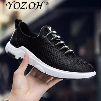 YOZOH New Unisex Mens Athelitic Shoes, Summer Breathable Mesh Sneakers For Men, Light Outdoor Sports Men's Running Shoes-Black - intl