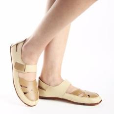 Yutaka Casual Flat Shoes Krem - Jahe