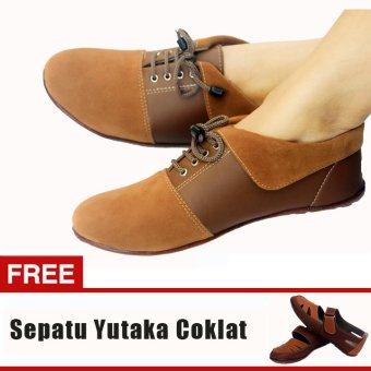 Yutaka Sepatu Wanita N30 Jahe + Gratis Sepatu Sp30 Tan