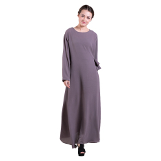 Zada Gamis Tie Maxi Dress - Abu