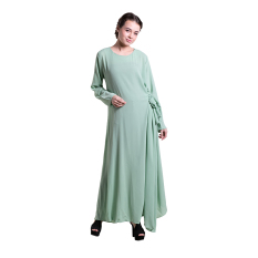 Zada Gamis Tie Maxi Dress -Hijau Mint