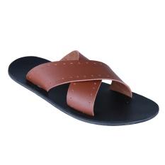 Zada Sandal Pria - Coklat Muda