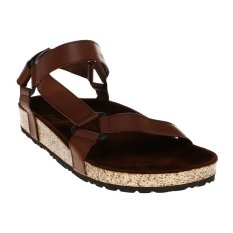 Zada Sandal Pria Multi Strap - Dark Brown