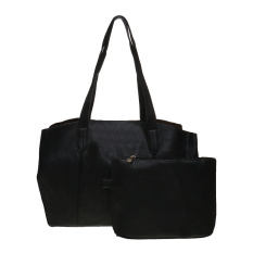 Zada Semi Formal Tote Bag Wanita bonus Big Pouch - Hitam