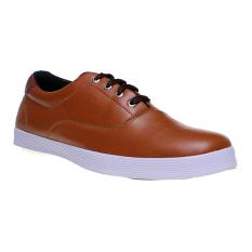 Zada Sneakers Leather Sintetis (Kulit Sintetis) - Brown