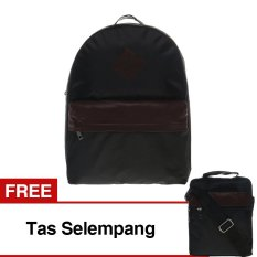Zada Tas Backpack Pria - Hitam Gratis Tas Selempang