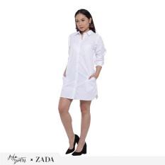 Zada x Ayla Boyfriend Shirt - Putih