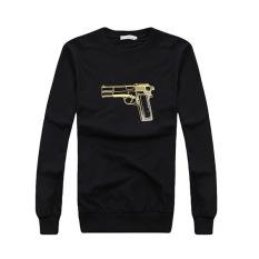 ZANZEA 3D Gun Print Women HoodiesLoose Sweatshirts Tops (Black)