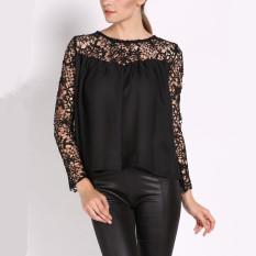 Zanzea Fashion New 2016 Women Sexy Lace Blouse Ladies Casual O-neck