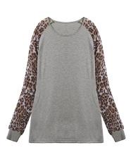 ZANZEA Fashion Sexy Ladies Leopard Chiffon Top Blouse Long Sleeve Casual T-shirt