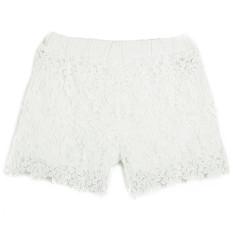 ZANZEA Fashion Women European Lady Elastic Shorts High Waist Lace Short Pants White