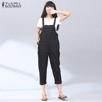 050d9eeabb0 ZANZEA High Street Elegant Cotton Bib Pants Rompers Casual Jumpsuits Autumn  Womens Vintage Plus Size S