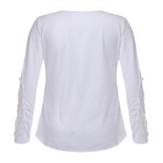 ZANZEA Women Korean Round Neck Long Sleeve Embroidery T-shirt (Intl)