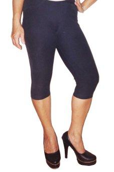 Zetha Celana Jeans Legging 3/4 - Denim Full Black