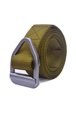 ZigZagZong Mens Buckle Waistband Handmade Waist Canvas Leather Belt Costume New Design COOL (Army Yellow) - Intl