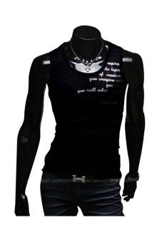 ZigZagZong Mens Sleeveless 1005 Cotton Tank Top Muscle T-shirts Sportwear Vest Undershirts (Black) (Intl)