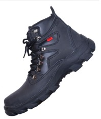 ZimZam Sepatu Everest Safety Leather buk black