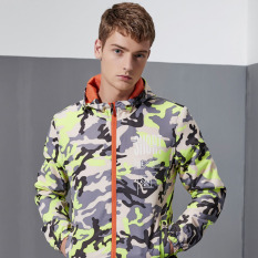 Zipper Hooded Camouflage Long Sleeve Jacket Men's Polyester Autumn Coats (Green) - Intl