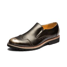 ZNPNXN Leather Men's Formal Shoes Derby & Oxfords(Silver) (Intl)