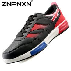 ZNPNXN Men's Casual Sports Shoes Lace-Up Shoes (Black)