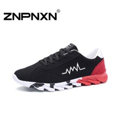 ZNPNXN Men's Casual Sports Shoes Running Shoes (Black / Red)