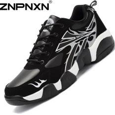 ZNPNXN Men's Couple Breathable Shoes Sports Casual Shoes (Black / White)