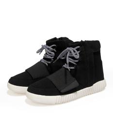 ZNPNXN Men's Fashion Boots Shoes Work Boots Suede Shoes (Black)