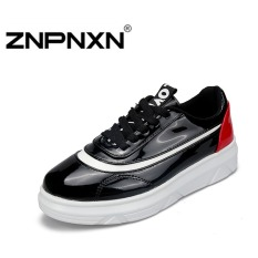 ZNPNXN Men's Fashion Breathable Casual Lovers Flat Skater Shoes (Red)